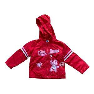 Care Bears Full Zip Hooded Rain Jacket Red Size 3T